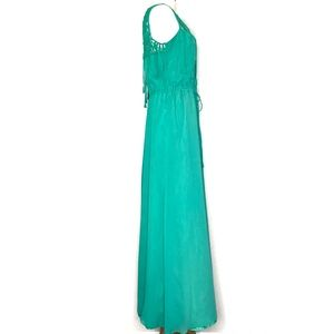 Calypso St. Barth Dresses - Calypso St. Barth Green Silk Maxi Dress A150739